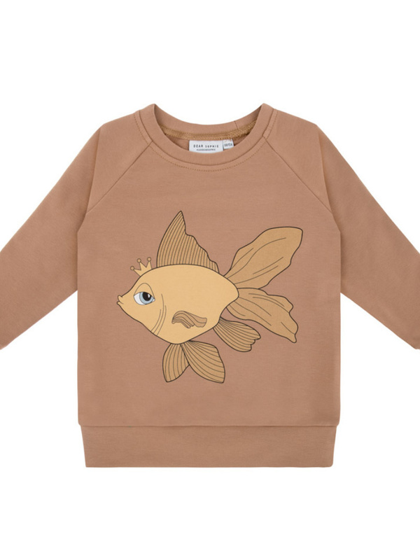 Goldfish brown sweatshirt