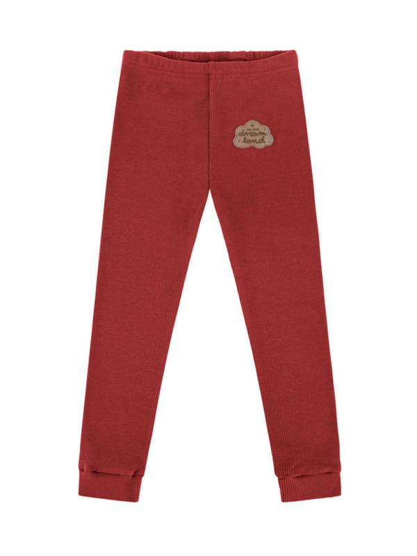 Rib dark red legging