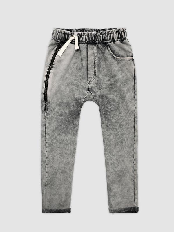Acid graphite zipper joggers