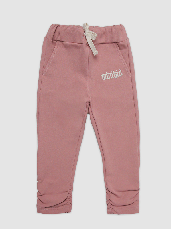 Pink pinched joggers