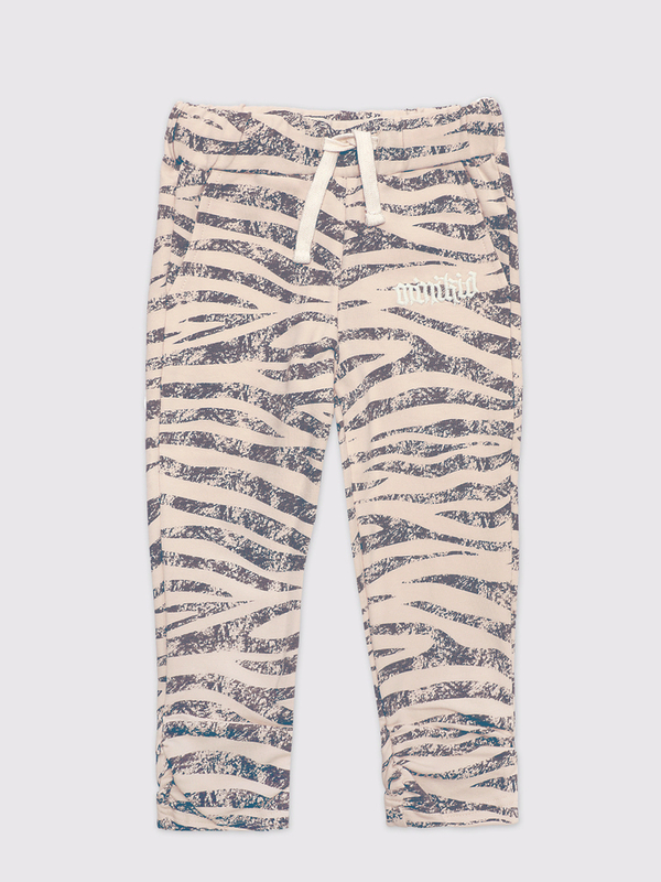 Zebra pinched joggers dovelike