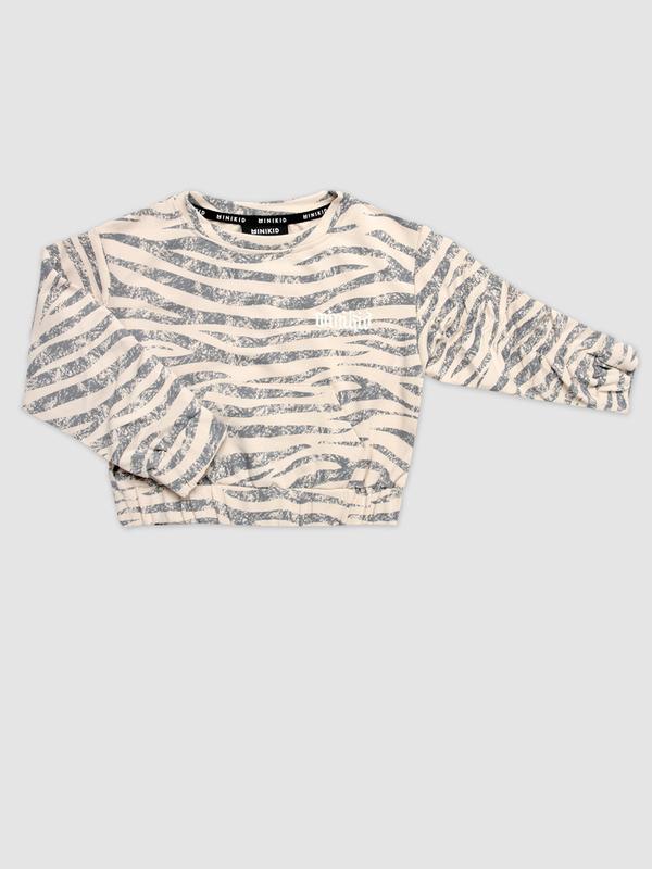 Zebra pinched sweatshirt dovelike