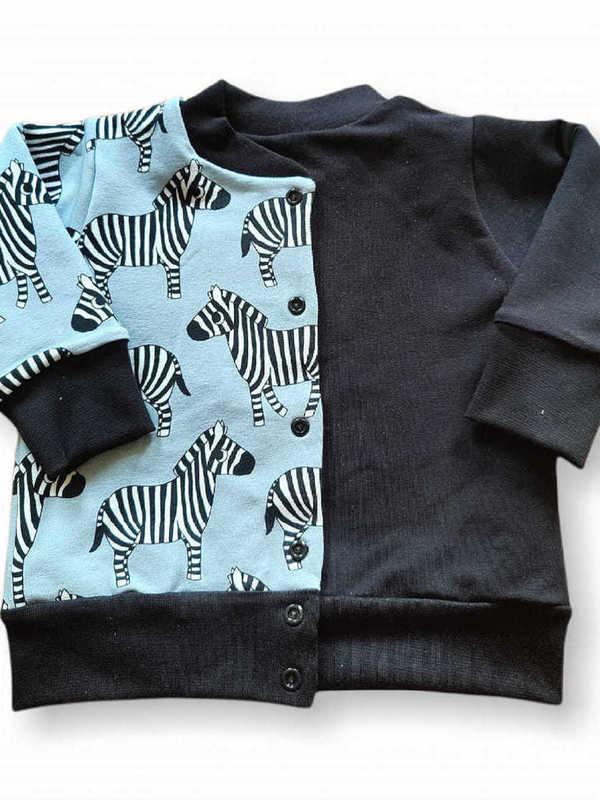 Omkeerbare vest zebra/zwart