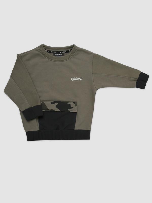 Panel camo sweatshirt