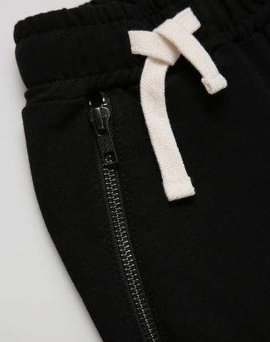 Black zipper joggers