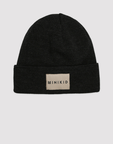 Graphite merino hat