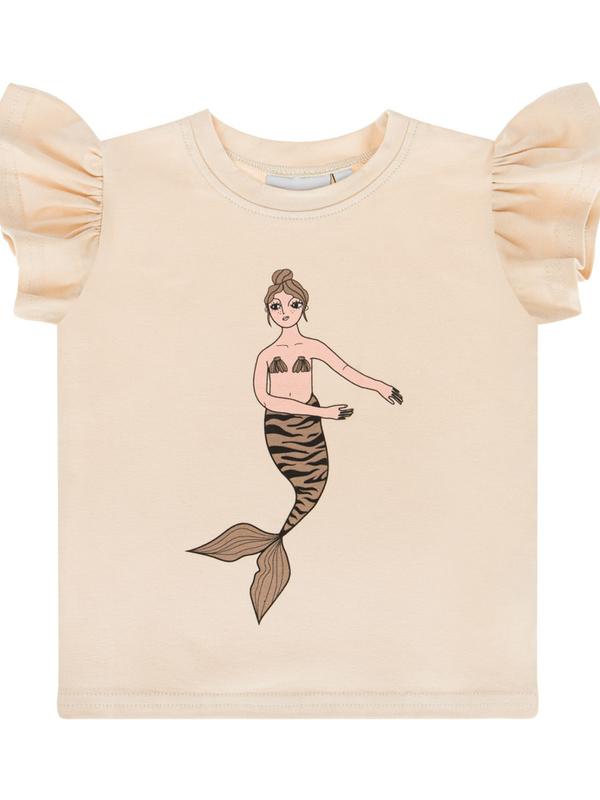 Mermaid ecru frill tank