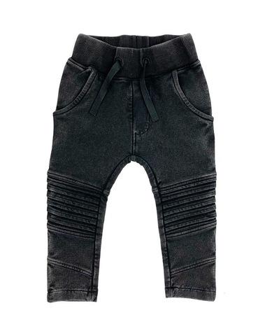 bikerpants vic acid wash black