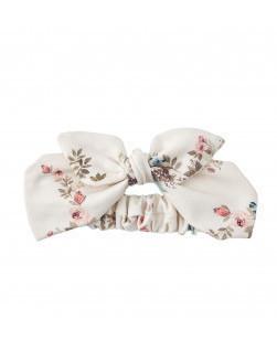 Haarband bloemen wit