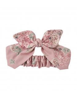 Haarband bloemen kant roze